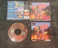 WORMS - PLAYSTATION 1-PS1- BIG BOX BLACK LABEL EDITION - COMPLETE