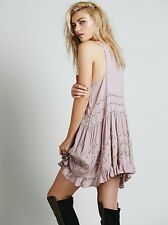 Intimately FREE PEOPLE Voile and Lace Trapeze Slip Dress Size Medium- Misty Pink