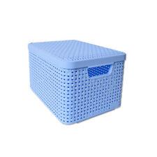 Curver Style Rangement Ordnungsbox Couvercle Panier Rotin Optique 5L Bleu