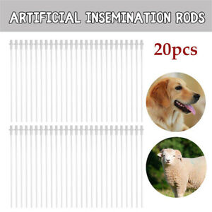 Canine Artificial Insemination Rods AI Dog Breeding  (20-Pack Of Tubes/Pipes)