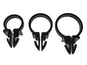 "1/2"" 5/8"" 3/4"" black nylon wiring tubing clamps 18 pcs   Studebaker"