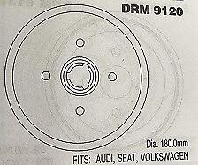 DRM9120 VAG tamburo del freno