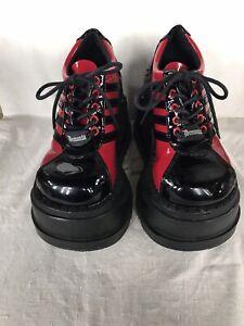 Demonia Stomp 08 platform shoes size 6 (?)