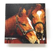 "Horse True Love Nostalgic Vintage 4.5""x 4.5"" Mini Crate Wood Sign"