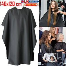 Barber Salon Cape Gown Hairdressing Cutting Apron Black Unisex Barbers Cloth UK