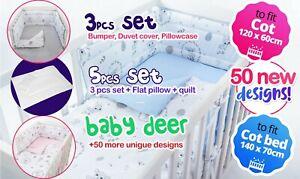 BABY BOY-GIRL NURSERY BEDDING SET-BABY DEER DESIGN - PERFECTBABY SHOWER GIFT
