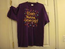 Unisex Men's Or Women's Purple I Don't Wanna Grow Up! USA Made T-Shirt Size XL