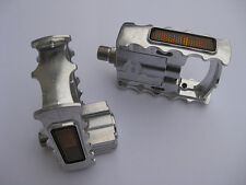 MKS FD7 Faltpedale silber FD-7 Pedals ruhiger Lauf faltbar abklappbar silver NEU
