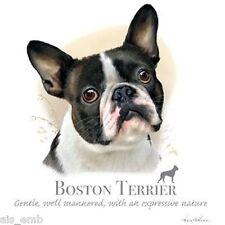 Boston Terrier Dog HEAT PRESS TRANSFER For T Shirt Sweatshirt Tote Fabric #814j