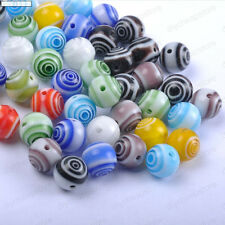 Quality Mixed Round Ball glass Loose Beads Choose  4MM 6MM 8MM 10MM 12MM