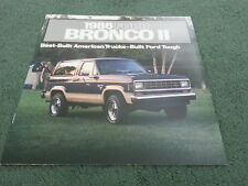 1986 FORD BRONCO II / 2 4x4 - USA BROCHURE - STANDARD / XLT / EDDIE BAUER Models