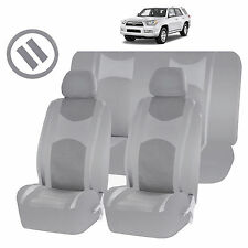 ALL GRAY MESH NET SEAT COVERS AIRBAG READY SPLIT BENCH 9PC SET FOR SUVS 1448