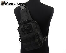 1000D Molle Tactical Utility 3 Ways Should Sling Pouch Backpack-Black A