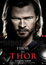 CHRIS HEMSWORTH as THOR   A4  printed movie poster