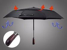balios ® double canopy auto öffnen schließen winddicht herren damen schwarz regenschirm golf