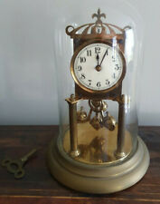 Antique German Torsion / 400 Day Anniversary Clock with Original Glass Dome