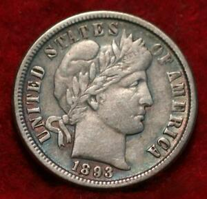 1893-O New Orleans Mint Silver Barber Dime