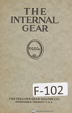 Fellows The Internal Gear Design and Application Manual Year (1943)
