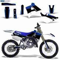 Graphics Kit w/Backgrounds Yamaha YZ 125 Dirt Bike Wrap Decals YZ125 1991-1992 R