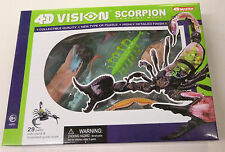 4D Vision Visible Scorpion Anatomy Snap Together Model Kit New