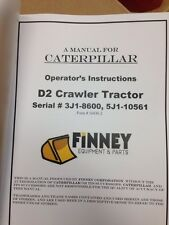 Cat Caterpillar D2 Operators manual book dozer 3J 5J dozer operation maintenance