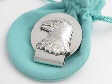 Tiffany & Co Rare Silver Eagle Freedom Symbol Bird Money Clip Holder