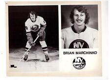 BRIAN MARCHINKO 1972-73 NY ISLANDERS ORIGINAL TEAM ISSUE 8x10 PHOTOGRAPH NHL