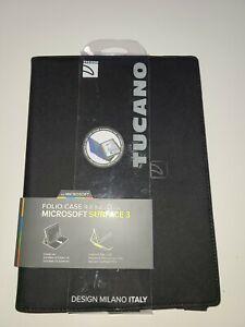 TUCANO - Milano Italy Infinito Folio Case for Microsoft Surface 3- Black