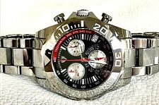 SWISS LEGEND MENS T-8010-11 TUNGSTEN PRO COLLECTION LUXURY CHRONOGRAPH  WATCH