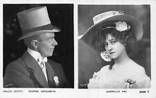 POSTCARD  ACTRESSES GABRIELLE RAY & GEORGE GROSSMITH