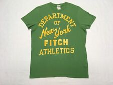 ABERCROMBIE & FITCH DEPARTMENT OF ATHLETICS NEW YORK GREEN VINTAGE MUSCLE  L 136