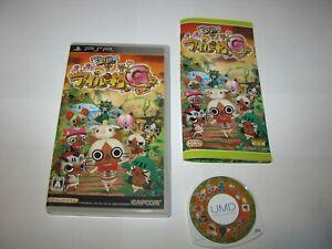 Monster Hunter Monhan Nikki Poka Poka Airou Mura G PSP Japan import US Seller