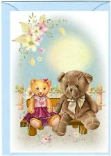 """Teddy Bear (No.7) (4"""" x 6"""") Blank Card for any occasion - Designed by Starprint"""