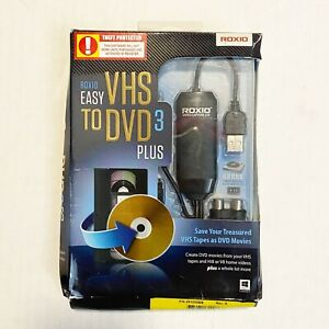 Roxio Easy VHS to DVD 3 Plus Transfer Home Movies Open Box