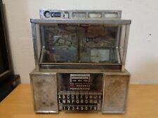 Seeburg Consolette Jukebox Vintage w/Key Untested As-Is Missing Flips Knob Parts