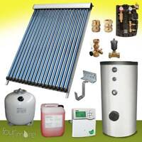 SPA 24 Solaranlage speicher 300 Liter komplettpaket vakuum röhrenkollektor