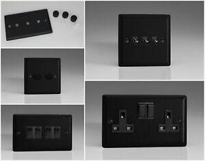 Varilight Urban Matt Black Range - Black Plastic Inserts & Switches