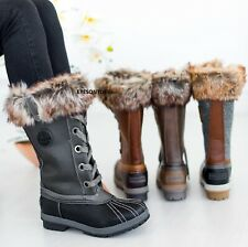 WOMENS SNOW WARM WATER RESISTANT LADIES WINTER THERMAL WELLINGTONS FUR BOOTS