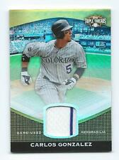 2011 Triple Threads Carlos Gonzalez Game Used Jersey #'D only 8/9! PINSTRIPE!
