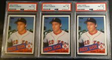 LOT OF (3) 1985 ROGER CLEMENS TOPPS ROOKIE #181 PSA 9 RED SOX FUTURE HOF (403)