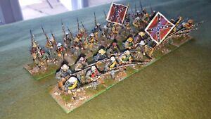 28mm ACW Confederate infantry 2 x 20 figure regiments lots 3/4