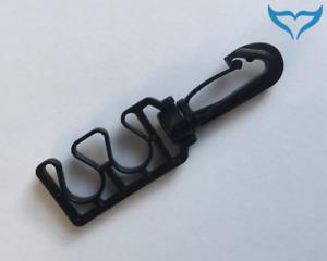 Oktopushalter Kunststoff Octoholder black Schlauchhalter dreh Karabiner Poseidon
