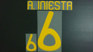 ANDRES INIESTA #6 Spain Home & Away World Cup 2010 Name Set