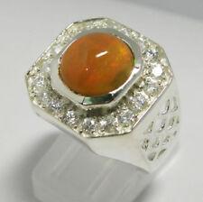 Gioielli di lusso naturale in argento opale