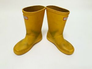 KIDS HUNTER WELLIES INFANT SIZE 10 YELLOW BOYS GIRLS WELLY BOOTS WELLINGTONS