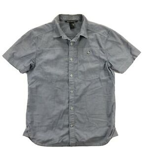 Black Diamond Equipment Chambray Modernist Shirt Mens Medium Blue Short Sleeve
