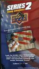 (5)2008 UD 2 MLB Factory Sealed Box+Game Used USA Jersey MEMORABILIA Card!