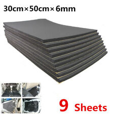 9 Sheets Car Sound Proofing Deadening Insulation 6mm Closed Cell Foam 30cm×50cm