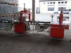 Mosca Verpackungslinie Umreifungsautomat RO-TR-900&RO-TR-700 und Paketdrehtische