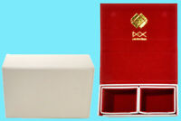 DEX PROTECTION DUALIST WHITE DECK BOX 120 SMALL Card Storage Dual Case Yugioh
